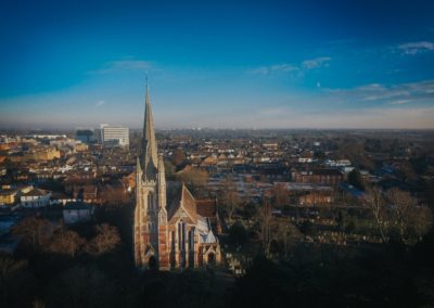 St Marys from above